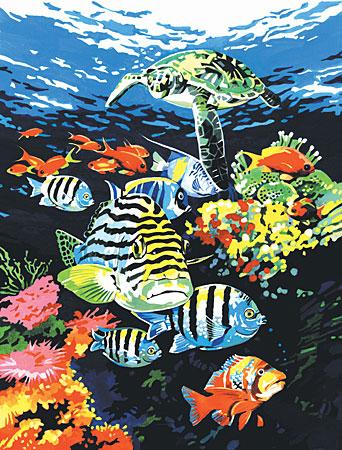 Malen nach Zahlen Bild Tiefsee-Fische - PJS74 von Sonstiger Hersteller