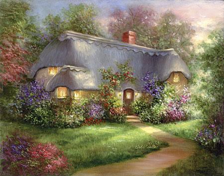 Malen nach Zahlen Bild Zauberhaftes Landhaus - POMSET16 von Royal Langnickel