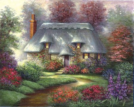 Malen nach Zahlen Bild Romantisches Landhaus - POMSET3 von Sonstiger Hersteller