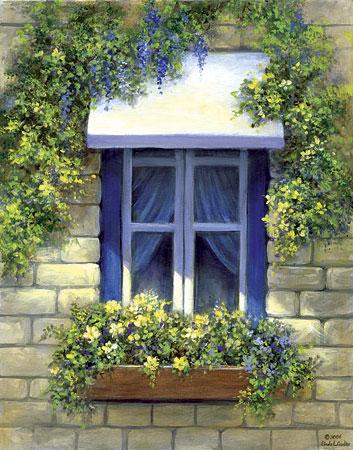 Malen nach Zahlen Bild Blaues Fenster - POMSET8 von Sonstiger Hersteller