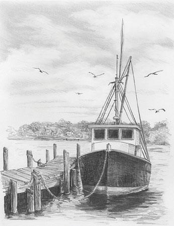 Malen nach Zahlen Bild Fischerboot - SKBN2 von Sonstiger Hersteller