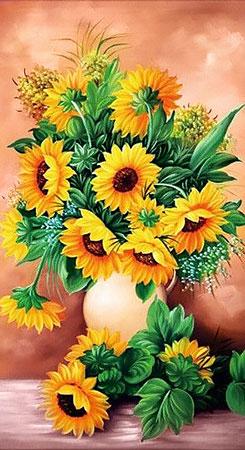 Malen nach Zahlen Bild Sonnenblumen in einer Vase - WD2334 von Sonstiger Hersteller