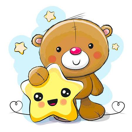 Kleiner Bär mit Stern
