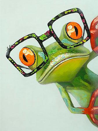 Frosch mit Brille