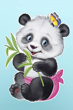 Malen nach Zahlen Bild Kleiner Panda - WD2368 von Sonstiger Hersteller