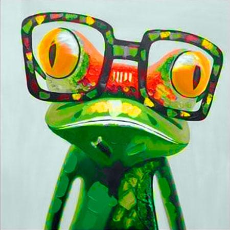 Malen nach Zahlen Bild Farbenfroher Frosch - WD2373 von Sonstiger Hersteller
