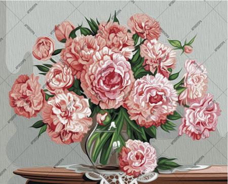 Malen nach Zahlen Bild Rosa Blumen - 01ART40500043 von Sonstiger Hersteller