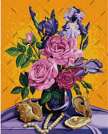 Malen nach Zahlen Bild Rosen Bouquet - 01ART50400042 von Sonstiger Hersteller