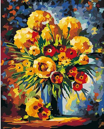 Gelbe und rote Blumen