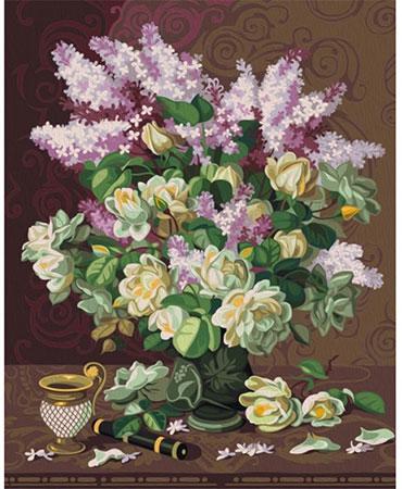 Malen nach Zahlen Bild Lilafarbener Blumenstrauss - 01ART50402111 von Sonstiger Hersteller