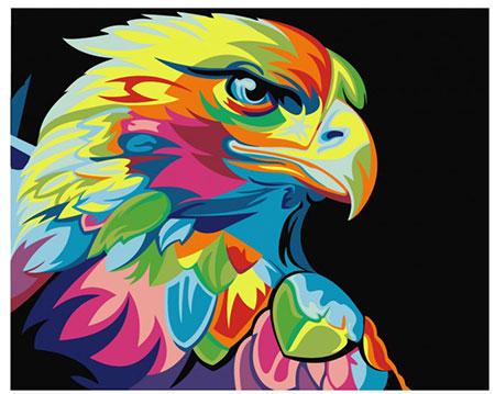 Malen nach Zahlen Bild Regenbogenfarbener Adler - 02ART40500008 von Sonstiger Hersteller