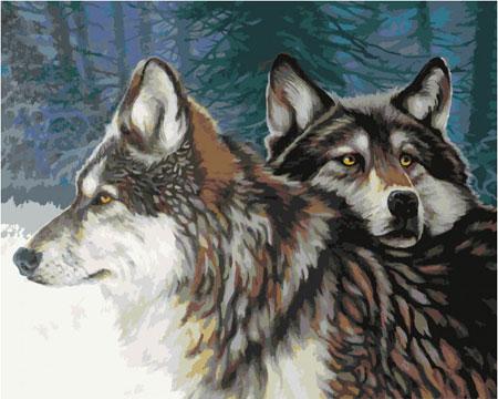 Erhabene Wolfspaar