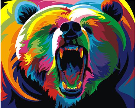 Regenbogenfarbener Bär
