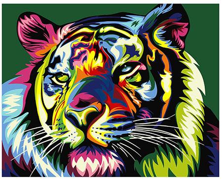 Regenbogenfarbener Tiger