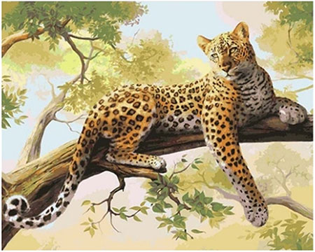 Malen nach Zahlen Bild Entspannter Leopard - 02ART40500122 von Sonstiger Hersteller