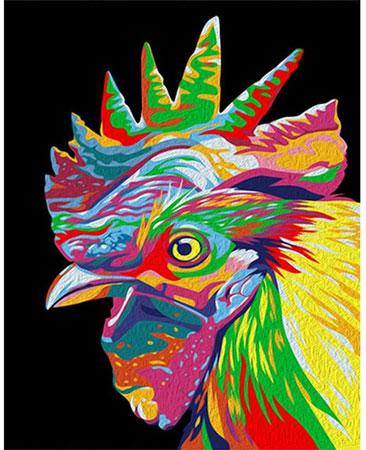 Regenbogenfarbener Hahn