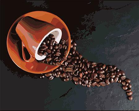 Malen nach Zahlen Bild Kaffeebohnen - 02ART40500320 von Sonstiger Hersteller