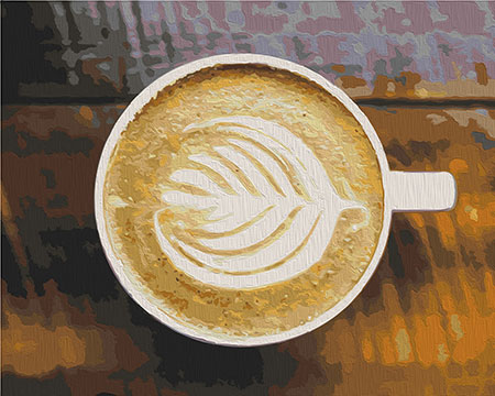 Malen nach Zahlen Bild Cappuccino - 02ART40500321 von Sonstiger Hersteller