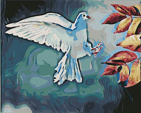 Malen nach Zahlen Bild Weiße Taube - 02ART40500323 von Sonstiger Hersteller