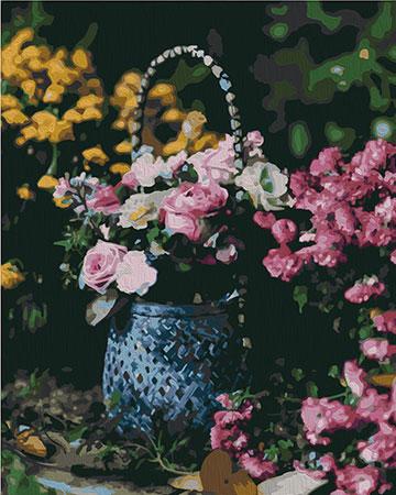 Malen nach Zahlen Bild Blumenkorb - 02ART40500332 von Sonstiger Hersteller