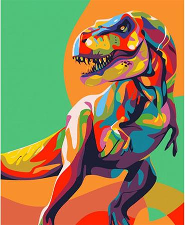 Regenbogenfarbener Dinosaurier