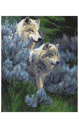Malen nach Zahlen Bild Zärtliche Wolfe - 02ART50400116 von Artibalta