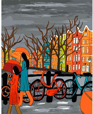 Malen nach Zahlen Bild Düsteres Amsterdam - 03ART50400019 von Sonstiger Hersteller