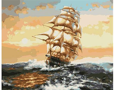 Malen nach Zahlen Bild Segelschiff im Wellengang - 03ART50400245 von Sonstiger Hersteller