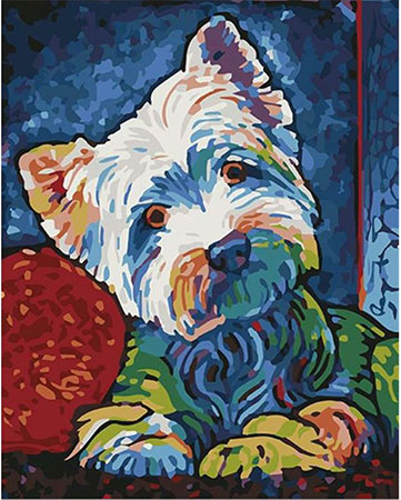 Malen nach Zahlen Bild Süßer kleiner Hund - 03ART50400249 von Artibalta