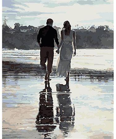 Malen nach Zahlen Bild Romantischer Strandspaziergang - 03ART50400288 von Sonstiger Hersteller