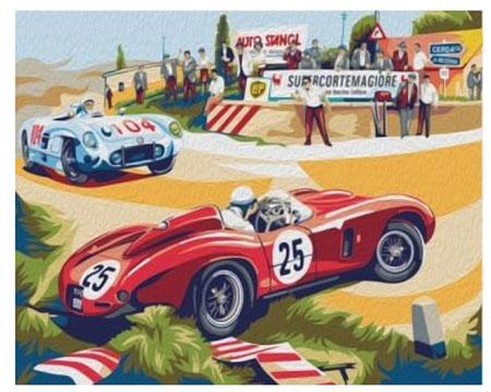 Malen nach Zahlen Bild Nostalgisches Autorennen in Sizilien - 04ART40500086 von Sonstiger Hersteller
