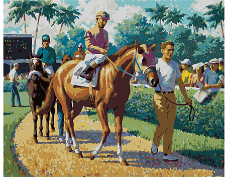 Vor dem Pferderennen, Sarnoff