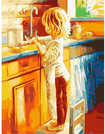Malen nach Zahlen Bild Küchenarbeit - 04ART50400017 von Sonstiger Hersteller