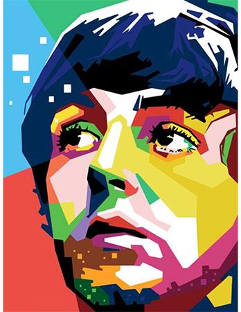 Malen nach Zahlen Bild Paul McCartney - 04ART50400022 von Sonstiger Hersteller