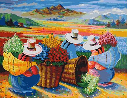 Malen nach Zahlen Bild Blumenernte in Peru - 05ART40500068 von Sonstiger Hersteller