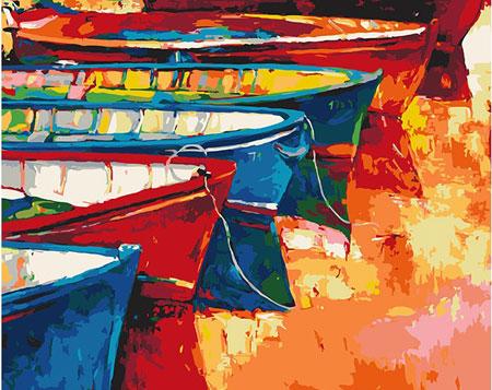 Boote am Steg