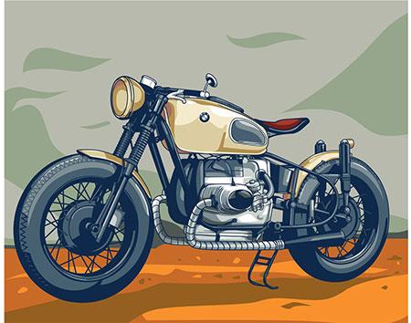 Malen nach Zahlen Bild Altes BMW Motorrad - 05ART40500177 von Sonstiger Hersteller