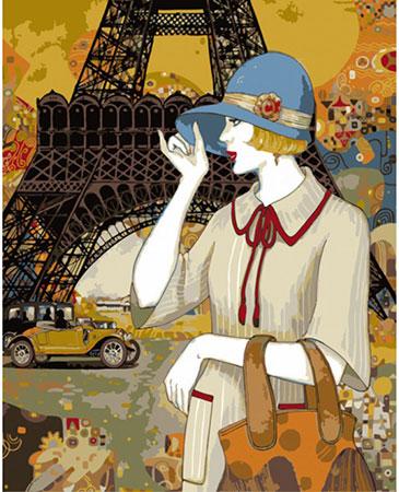 Malen nach Zahlen Bild Pariser Abenteuer, Lam - 05ART50400113 von Sonstiger Hersteller