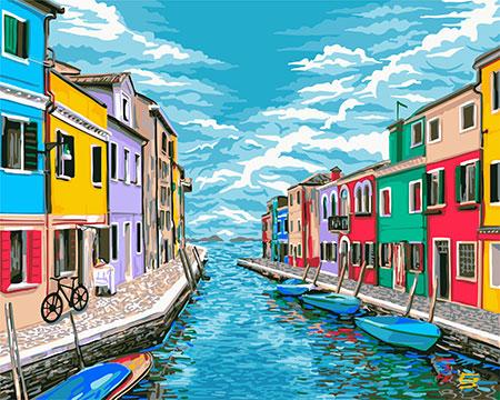 Malen nach Zahlen Bild Venedigs Straßen - A086 von Sonstiger Hersteller
