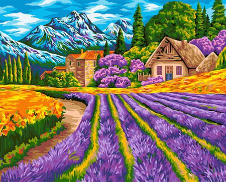 Malen nach Zahlen Bild Lavendelfeld  - A101 von Artibalta