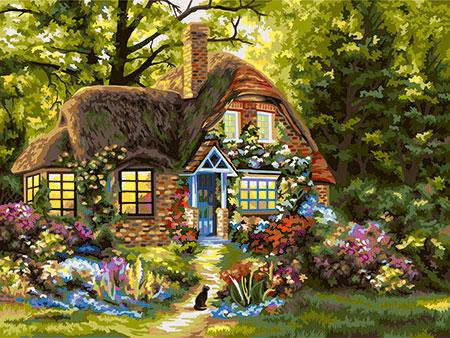 Malen nach Zahlen Bild Märchenhaus - A121 von Artibalta