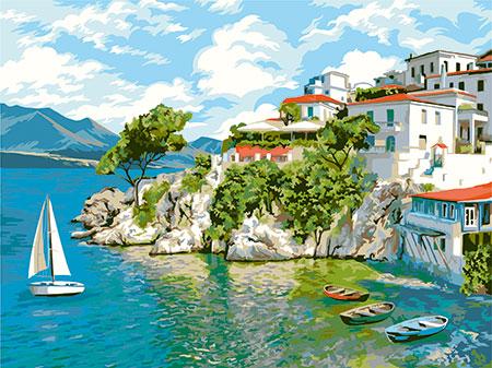 Blick auf die Insel Skiathos