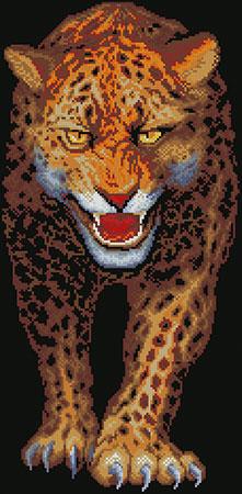 Fauchender Jaguar