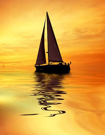Malen nach Zahlen Bild Segelschiff im Sonnenuntergang - AZ-1092 von Sonstiger Hersteller