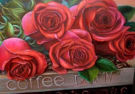 Malen nach Zahlen Bild Schöne Rosen - AZ-1170 von Artibalta