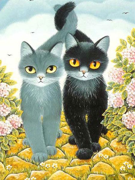 Malen nach Zahlen Bild Süße Katzen - AZ-1301 von Sonstiger Hersteller