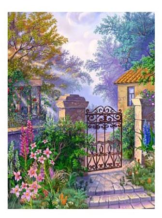 Blick auf das Gartentor