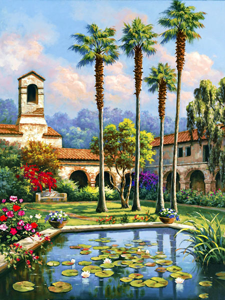 Paradiesischer Innenhof