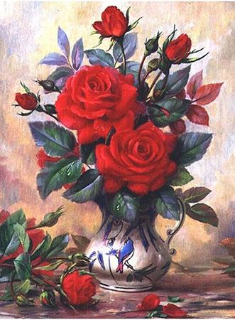 Rosenstrauß in der Kanne