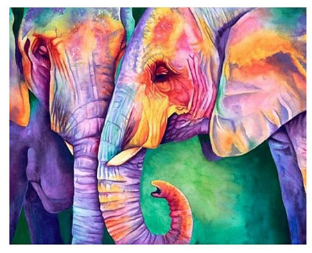 Malen nach Zahlen Bild Weisheit der Elefanten - AZ-1385 von Sonstige